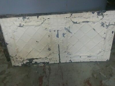 2 foot by 4 foot sheets of antique tin ceiling tiles