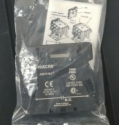 Siemens / Furnad Auxiliary Contact Kit 49ACR0 Type (1) NO