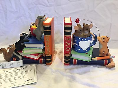 "Charming Tails ""FRIENDS CAN BE FOUND BETWEEN ADVENTURE AND LOVE""  BOOK ENDS NIB"
