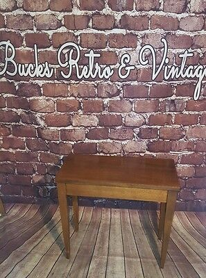 Antique Vintage Retro Old Piano Stool Stable Music Storage Side Occasional Table