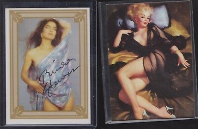 LOT of 2 ~ 1 AUTOGRAPHED SCREAM QUEENS CARD BRINKE STEVENS & PROMO  NAUGHTY NOS