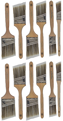 V5New Best 12Pk Trim / Wall Paint Brush Set Painting For House Home Professional