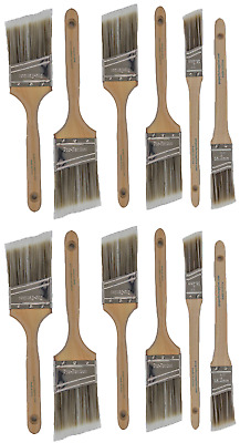 V8New Best 12Pk Trim / Wall Paint Brush Set Painting For House Home Professional