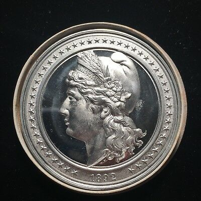 1892 50mm Elgit 101 Liberty Head High Relief World's Columbia's Expo Medal