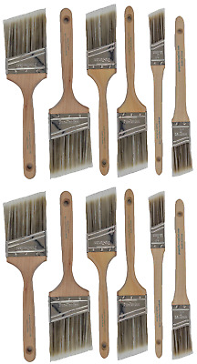V9New Best 12Pk Trim / Wall Paint Brush Set Painting For House Home Professional