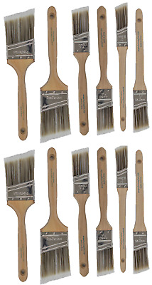 V10New Best 12Pk Trim /Wall Paint Brush Set Painting For House Home Professional