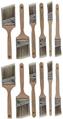 V11New Best 12Pk Trim /Wall Paint Brush Set Painting For House Home Professional