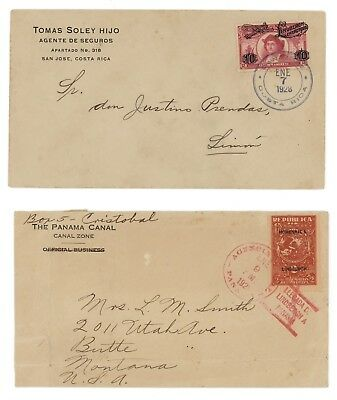 Lot of  two 1928 covers, Lindbergh Goodwill Tour with Spirit of St. Louis