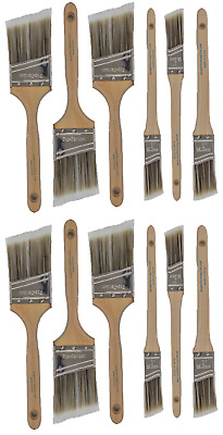V17New Best 12Pk Trim /Wall Paint Brush Set Painting For House Home Professional