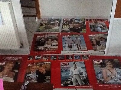 rare lot grandes affiches paris match Albert Monaco Prince Rainier port compris