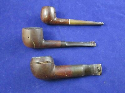Estate Smoking Pipes -Lot of 3- Vintage American Imported Briarwood