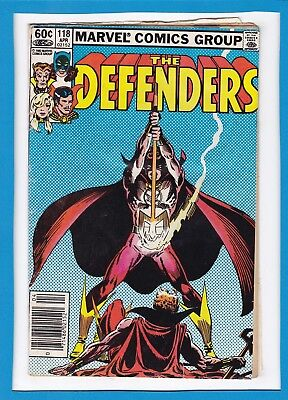 """The Defenders #118_April 1983_Vg Minus_Power Man_""""the Double""""_Bronze Age Marvel!"""