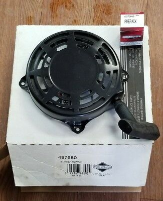 New Briggs & Stratton Pull Starter Recoil Assembly 497680 W/ Bolts Fits