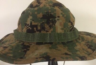 10c13f8b0d5 USMC MARPAT Woodland Boonie Hat Sekri Industries size Medium EUC