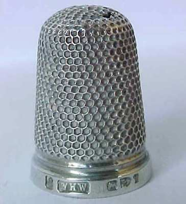 Antique Solid Silver William Harrison Walter Thimble 1893