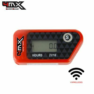 4MX Red Wireless Motorcycle Engine Vibration Hour Meter to fit Suzuki RM85