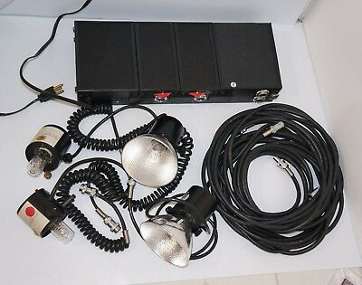 Lumedyne System 244 Lighting Kit  With 4 Flash Lights