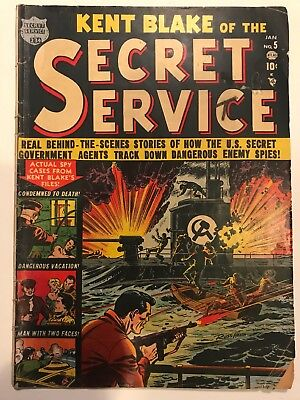 Kent Blake Of The Secret Service Comic Book 1952 #5