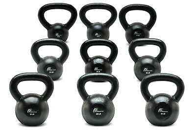 ProsourceFit Solid Cast Iron Kettlebells Weights for Full Body Workout 5-45 lbs