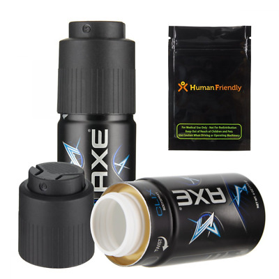 Axe Body Spray Diversion Safe Stash Can w HumanFriendly Smell-Proof Bag (Asso...