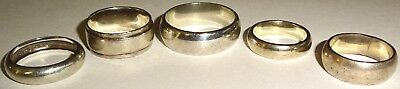 LOT of FIVE (5) ASSORTED Antique/Vintage STERLING SILVER RINGS~29+ GRAMS~LOT #2!