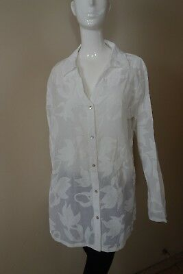734f088b77dbe5 Icantoo Womens 100% Cotton White Top Blouse Size 2XL NWOT