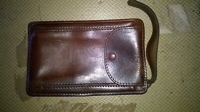 Vintage Men`s Brown Leather /pouch/wallet+Strap. Hipster/camping/camera /etc.