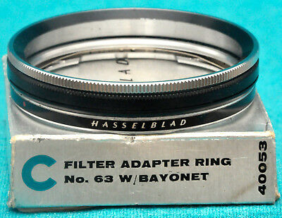 GENUINE Hasselblad Filter Adapter Ring: 63 Filters To ALL B50 Lenses. #40053