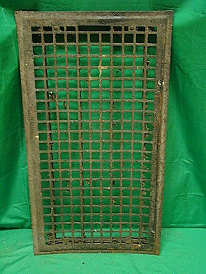 Huge Vintage 1920S Iron Heating Grate Square Design 14 X 26 S