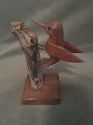 Hand Carved Wooden Bird by J.E. Crenshaw in Jasper, AL