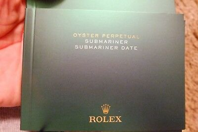 Rolex Submariner date booklet usa 7.2015 Top Zustand (B197)