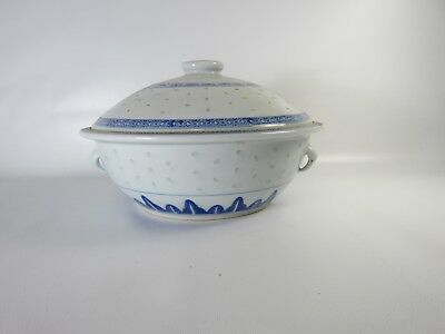 Chinese Blue and White Porcelain Big Bowl with Lid