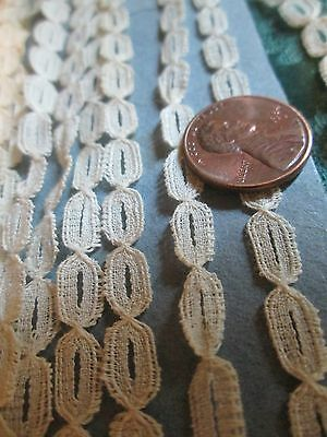 ".25"" Tiny Antique French Princess lace making trim TURTLE BRAID 5 yards"