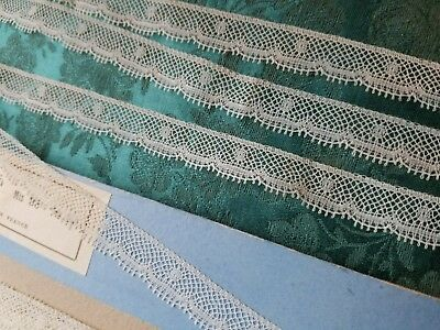 Antique French Val lace Vintage  trim  Nylon - 6 yards