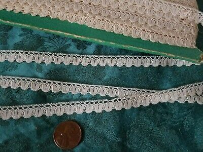 "3/8"" tiny Antique French Princess lace making Novelty dolls  5.5 yards Val"