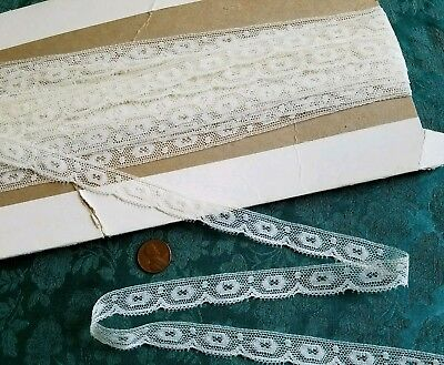 "5/8"" Antique French Val lace Vintage Nylon trim  lot  8 + yards   dolls"