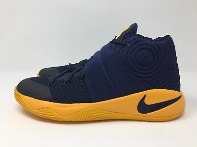 Nike Kyrie 2 GS Mid Navy University Gold 826673-447 Size 4.5Y New in box