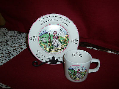 """1 Child's Plate & Cup!   """"little Bo-Peep""""    A+ Cond!    Buy It Now!    Sale!"""