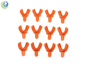 Dental Plastic Thermoform Disposable Impression Trays Lower Large #2 12/Bag