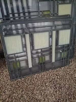 Vintage Antique Leaded Stained-Glass Window Panel multiple sizes. A set.