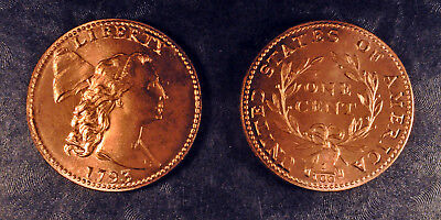 1793 Liberty Cap cents, type 3, beaded border, matched set, UNC, Gallery Mint