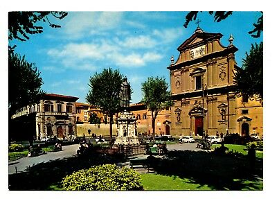 St Marcus Square Florence Italy Postcard Firenze Cross Statue Unposted