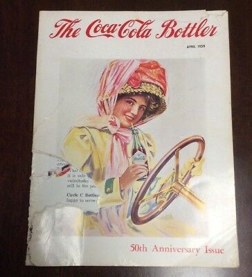 """1959 April  """"the Coca Cola Bottler"""" Mag. 50Th Ann. Issue 240 Pages Advertisement"""