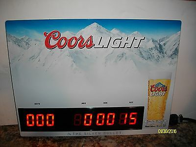 Coors Light Dry Erase Countdown Clock Lighted Beer Sign Brand New