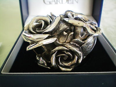 Harmony Kingdom Double Sterling Rose Silver MSRP $500 Weighs 259 Grams UK Made
