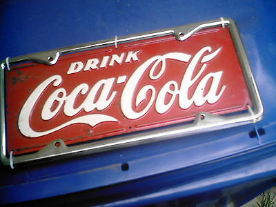 RARE 1930's COCA COLA DELIVERY TRUCK LICENSE PLATE >>>>> LOOK