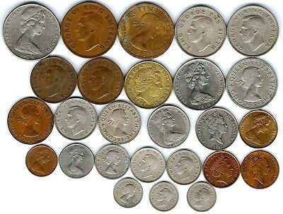 26 different world coins from NEW ZEALAND