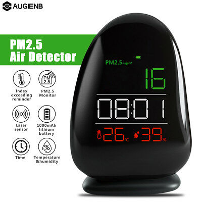 AUGIENB Laser Sensor PM2.5 Detector Air Quality Monitor Thermometer Hygrometer