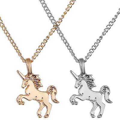 Mythical Magical Unicorn Charm Pendant Necklace Gold / Silver