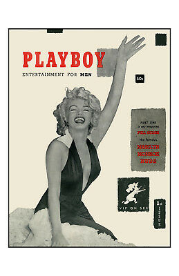 Marilyn Monroe Playboy cover 1953 Poster  11x17 in / 28x43 cm